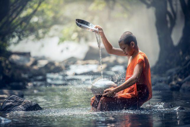 Mnich na skale