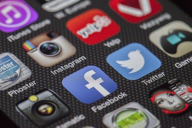 social media ikony
